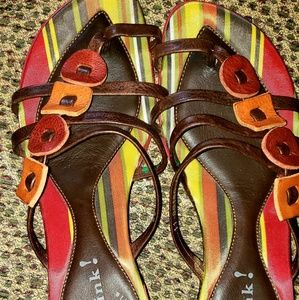 Ladies THINK! Thong leather Sandal